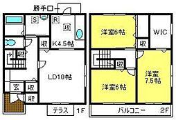 [テラスハウス] 埼玉県さいたま市大宮区桜木町4丁目 の賃貸【/】の間取り