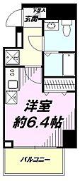 JR中央線 豊田駅 徒歩2分の賃貸マンション 4階ワンルームの間取り