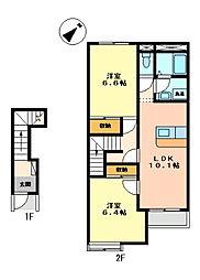 新潟県燕市東太田の賃貸アパートの間取り