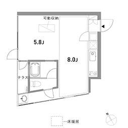 domino(ドミノ)[3階]の間取り