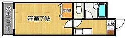 プリンス寺塚[401号室]の間取り