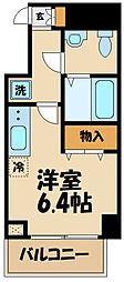N-stage Toyoda 8階1Kの間取り