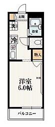 JR山手線 大塚駅 徒歩5分の賃貸マンション 2階1Kの間取り
