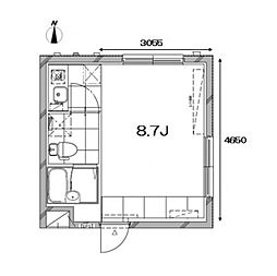Apartment KURO武蔵小山I[3階]の間取り