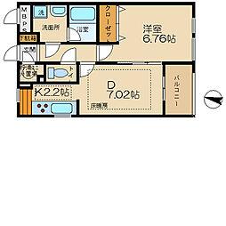 東京都八王子市兵衛2丁目の賃貸マンションの間取り