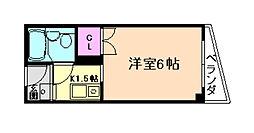 モンシャトル[6階]の間取り