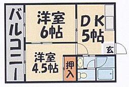 鳥飼山本荘[16号室]の間取り