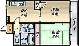大阪府堺市堺区今池町2丁の賃貸マンションの間取り