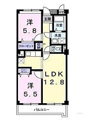 愛知県岡崎市欠町字広見西通の賃貸アパートの間取り
