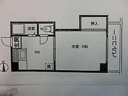 谷川ビル[205号室]の間取り