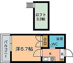 モーリックス七隈A[202号室]の間取り