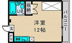 レーヴ小若江[2階]の間取り