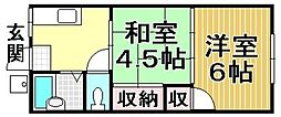 ファミュー鈴木[105号室]の間取り