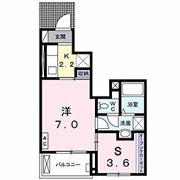 神奈川県海老名市上今泉2の賃貸アパートの間取り