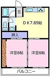第2塩野マンション[3階]の間取り