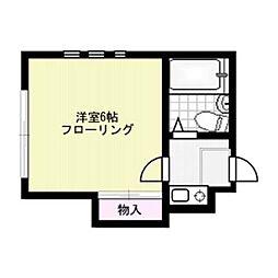 パステル南福岡[109号室]の間取り