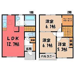 [テラスハウス] 栃木県真岡市長田 の賃貸【/】の間取り
