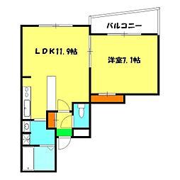 ボナール和田町[5階]の間取り