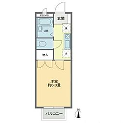 櫻ハウス大八木[2階]の間取り