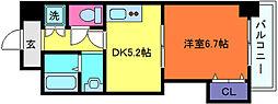 兵庫県神戸市灘区原田通2丁目の賃貸マンションの間取り