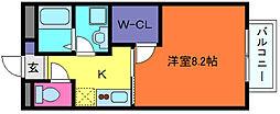 兵庫県神戸市東灘区魚崎中町2丁目の賃貸アパートの間取り