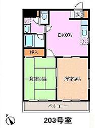 神奈川県横浜市南区睦町2丁目の賃貸マンションの間取り