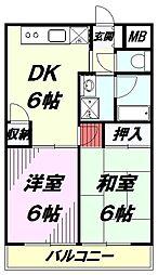 栗原ビル[302号室]の間取り
