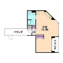 Villa Bianca[4階]の間取り