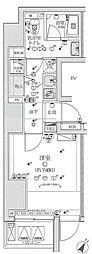 リヴシティ赤坂 12階1Kの間取り