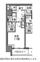 都営大江戸線 新御徒町駅 徒歩4分の賃貸マンション 3階1Kの間取り
