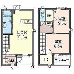 (仮)平塚市北金目3丁目シャーメゾンC[102号室]の間取り