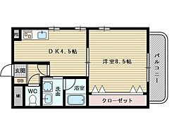 ASKコート[2階]の間取り