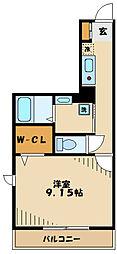 多摩市豊ヶ丘1丁目新築PJ 3階1Kの間取り