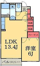 千葉県市原市村上の賃貸アパートの間取り