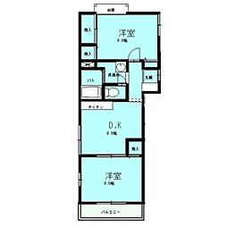 エステートピアサンタック2階Fの間取り画像