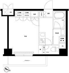 ルーブル川崎上平間弐番館 3階1Kの間取り