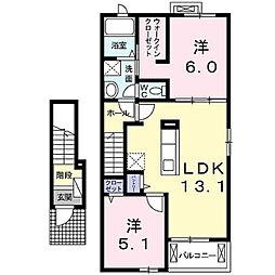 グリーンフォレストB[2階]の間取り