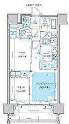 ディームス渋谷本町 7階2LDKの間取り