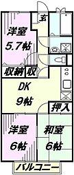 埼玉県所沢市小手指元町1丁目の賃貸マンションの間取り