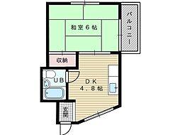 緒方マンション[3階]の間取り