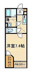 東武東上線 朝霞台駅 徒歩20分の賃貸アパート 1階1Kの間取り
