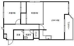 アームス東札幌[5A号室]の間取り