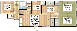 プラディオ生野マンション[2階]の間取り