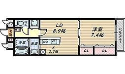 キラリ8-1[8階]の間取り