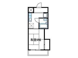 神奈川県厚木市愛甲1丁目の賃貸マンションの間取り