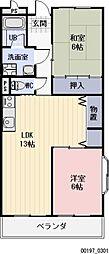 愛知県岩倉市八剱町郷の賃貸マンションの間取り