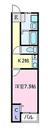 藤井寺大発マンション[3階]の間取り