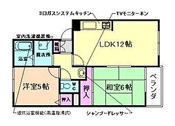 大阪府豊中市利倉東2丁目の賃貸マンションの間取り