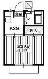 パナハイツ秋田[106号室]の間取り