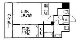 ラーナ.福岡東[8階]の間取り